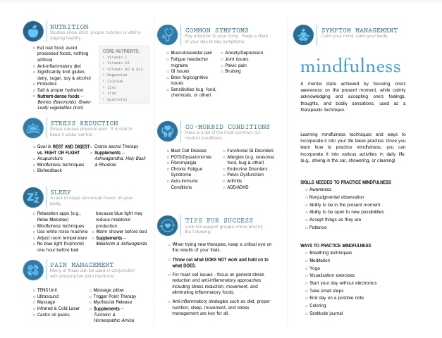 The newly redesigned EDS Integrative Healing Brochure (back)